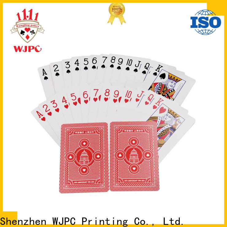 High-quality playing cards 100 plastic logo manufacturers for game