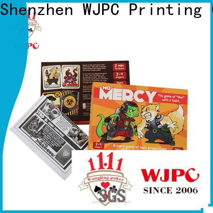 WJPC hot sale custom board game cards for business for bar