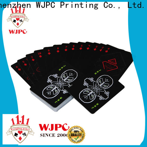 WJPC good looking pvc poker cards manufacturers for bar