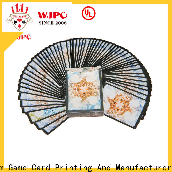 High-quality plastic poker cards for sale playing factory for party