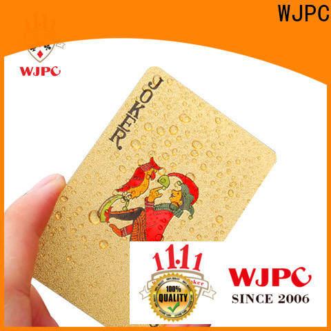 WJPC High-quality plastic playing cards price for business for board game