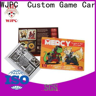 WJPC pvc plastic game cards factory for board game