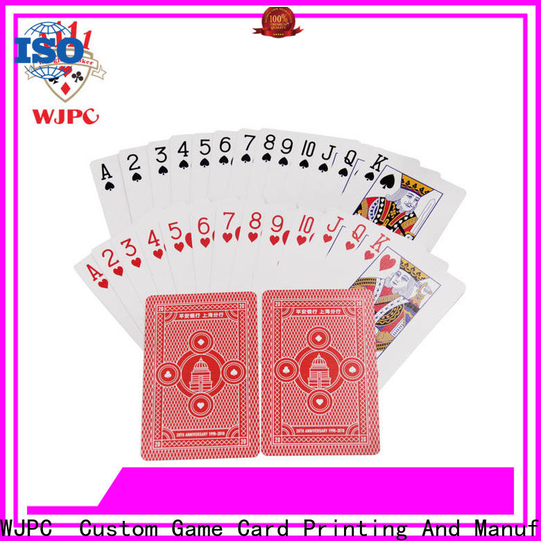 WJPC customized bulk plastic playing cards for business for party