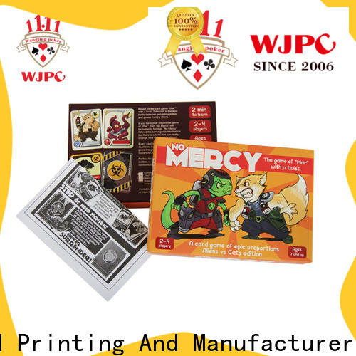 WJPC paper solitaire games card games manufacturers for bar