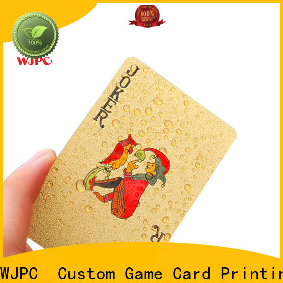 WJPC New custom plastic cards company for game