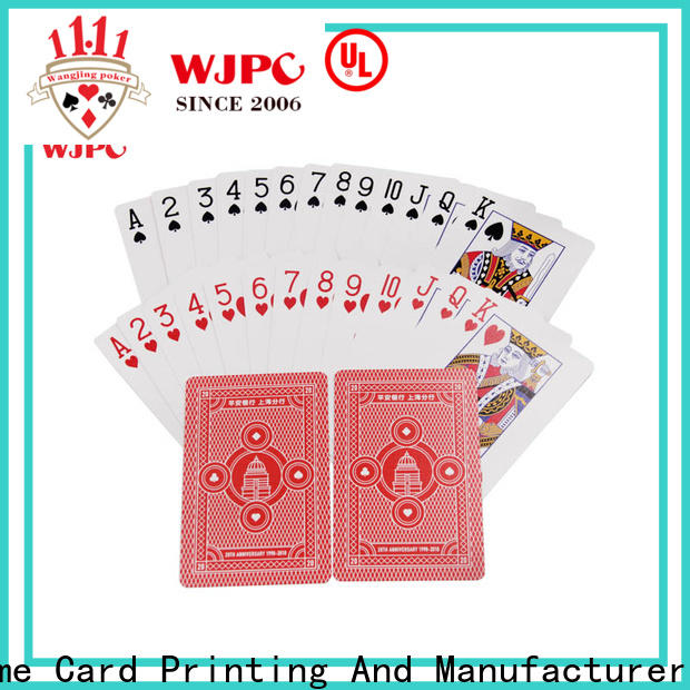 WJPC customized hard plastic playing cards manufacturers for board game