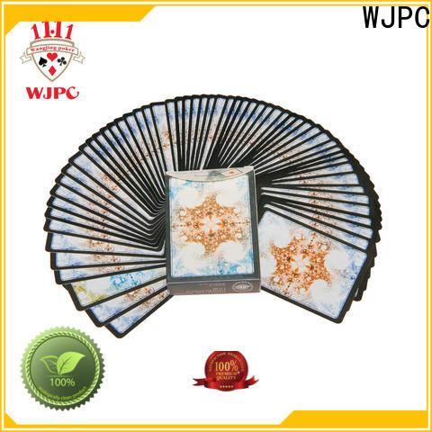 WJPC cards plastic casino cards for business for kindergarten