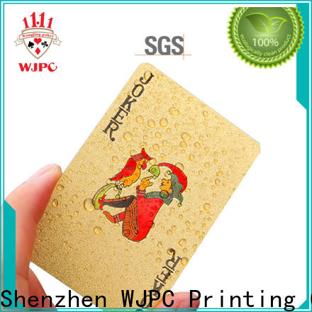 WJPC full custom made bicycle cards manufacturers for bar