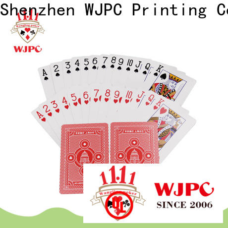 WJPC Best 100 all plastic playing cards manufacturers for bar