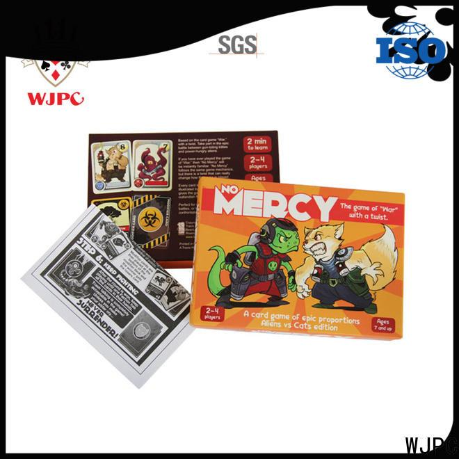 WJPC coated custom game cards company