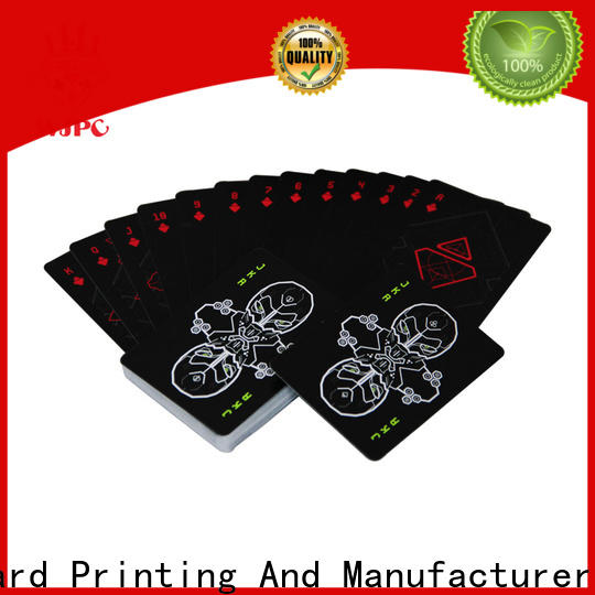 WJPC durable playing cards 100 plastic manufacturers for kindergarten