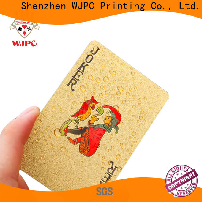 Latest poker cards custom printed waterproof Suppliers for bar