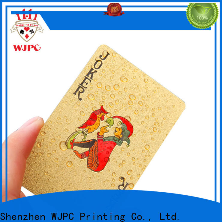 WJPC Latest plastic playing card environmentally friendly for game