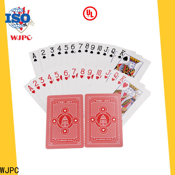 WJPC cards custom poker playing cards company for children