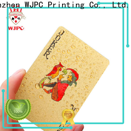 WJPC plastic most expensive bicycle playing cards Supply for bar