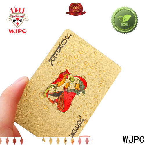 WJPC Best 100 all plastic playing cards Supply for party