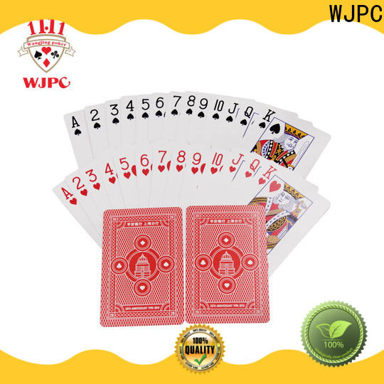 WJPC popular poker playing cards bicycle company for bar