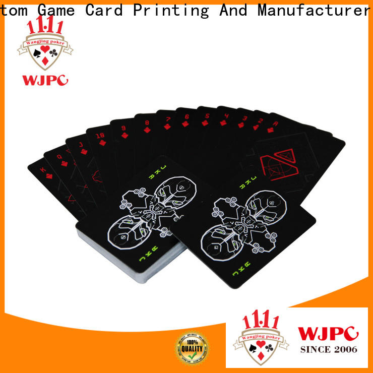 funny bicycle plastic poker cards customized factory for kindergarten
