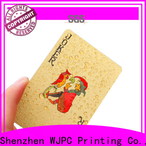 WJPC customed 100 all plastic playing cards company for children