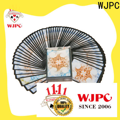 WJPC printing custom plastic poker cards manufacturers for game