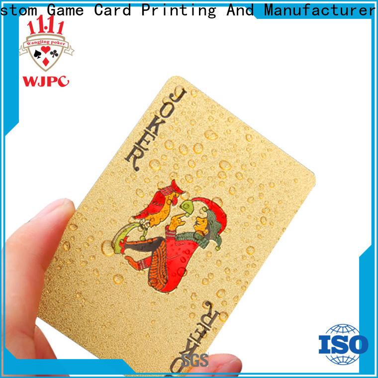 WJPC full plastic poker cards for business for game