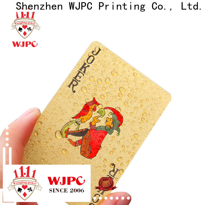 best personalized plastic playing cards waterproof company for game