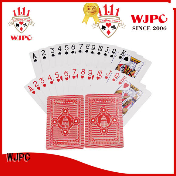 WJPC customized promotional poker cards with many colors for bar