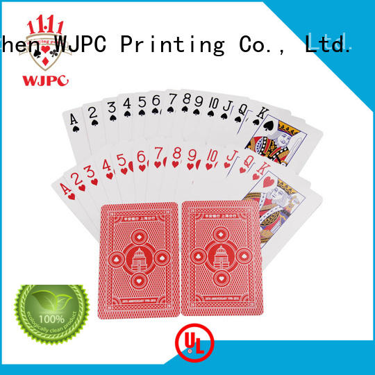 hot sale promotional products playing cards for bar WJPC