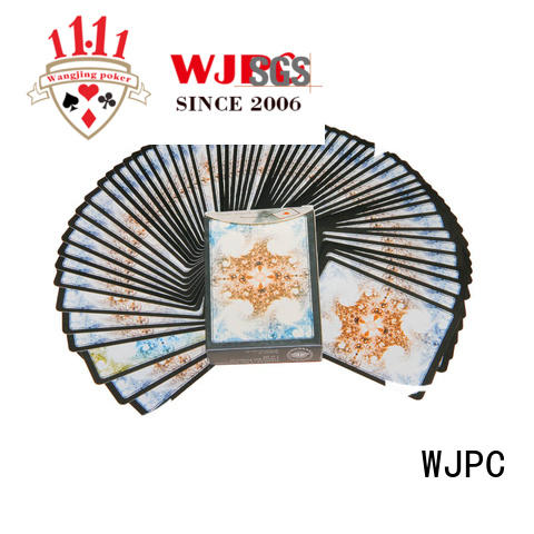 WJPC Custom plastic poker cards wholesale Supply for board game