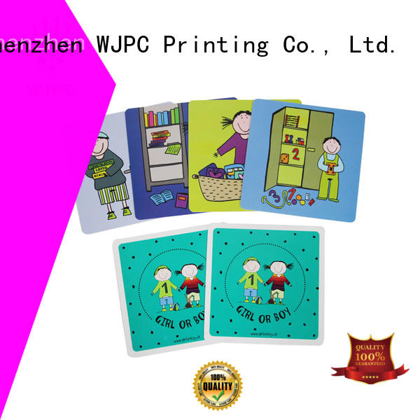WJPC qulity best flash cards for kids company for early learning centre