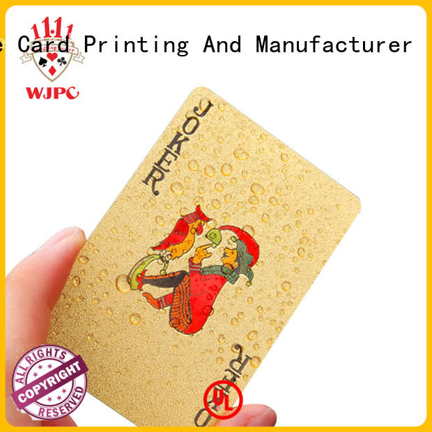 WJPC hot sale plastic playing cards price Supply for casino