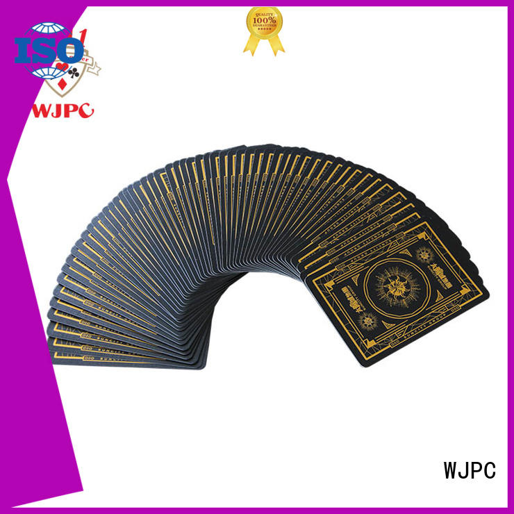 WJPC black custom deck of cards cheap manufacturers for casino show