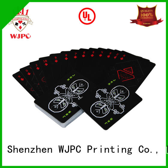 WJPC Best quality plastic playing cards company for casino