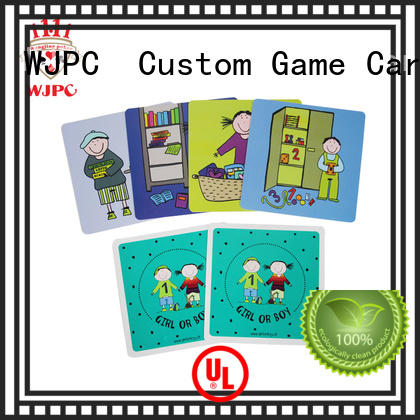 educational kids learning cards environmentally friendly for children WJPC