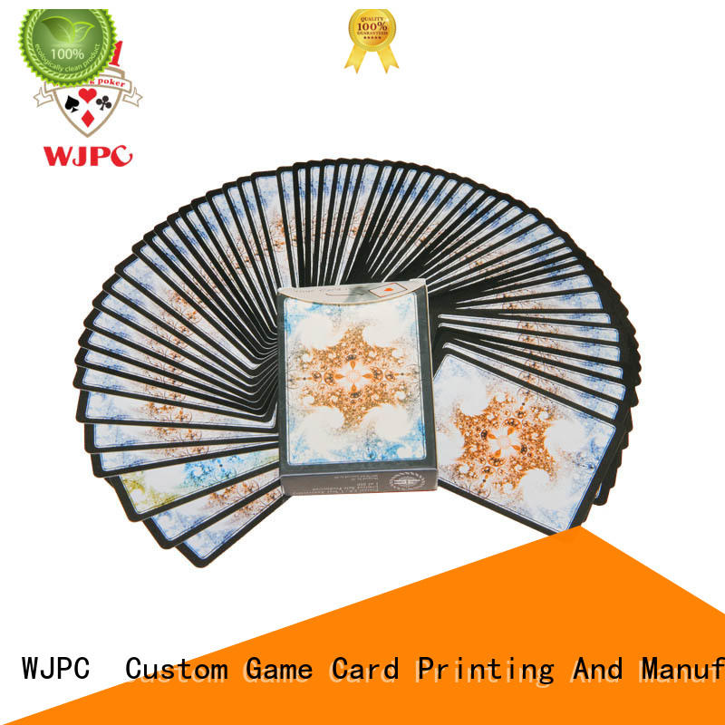 WJPC printing magic poker card producer for children