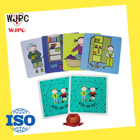 WJPC new arrival toddler educational flash cards producer for school