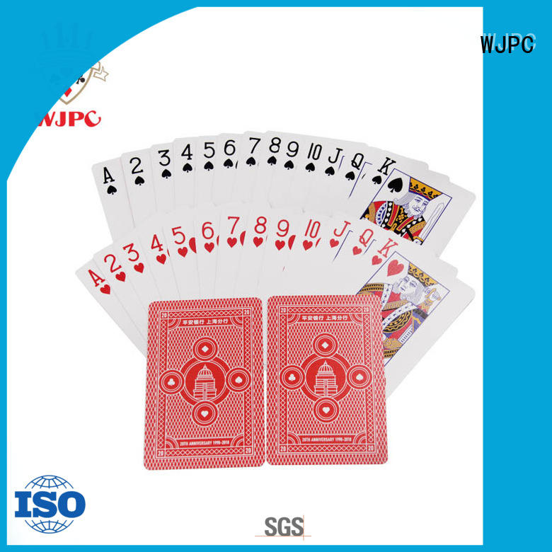 WJPC good-looking promotional playing card playing for game