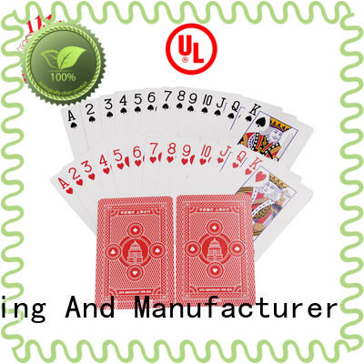 durable promotional playing card logo for business for casino