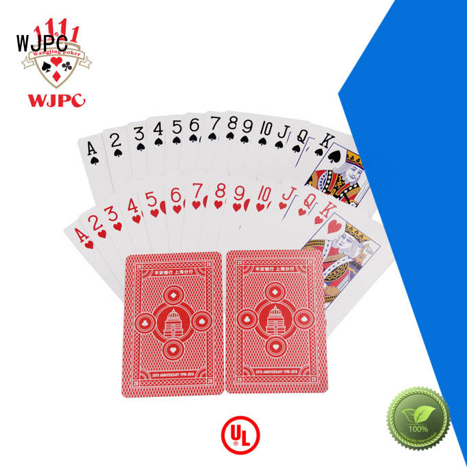 WJPC durable promotional playing card for game