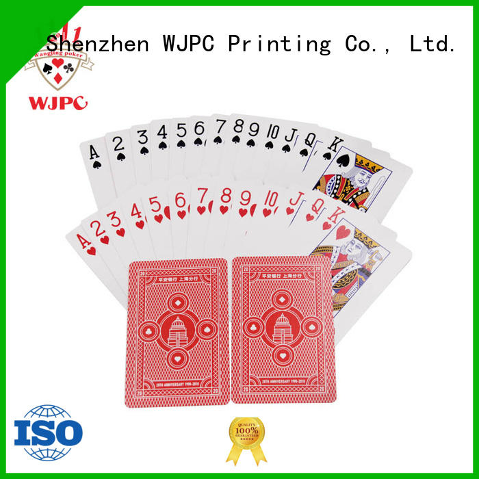 Wholesale promotional poker cards logo Suppliers for kindergarten