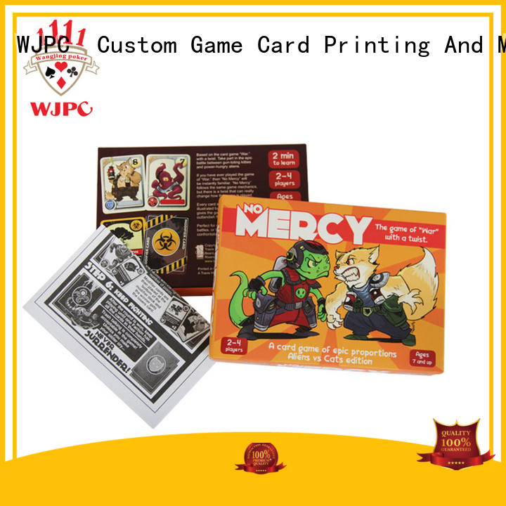 WJPC paper custom game card for board game