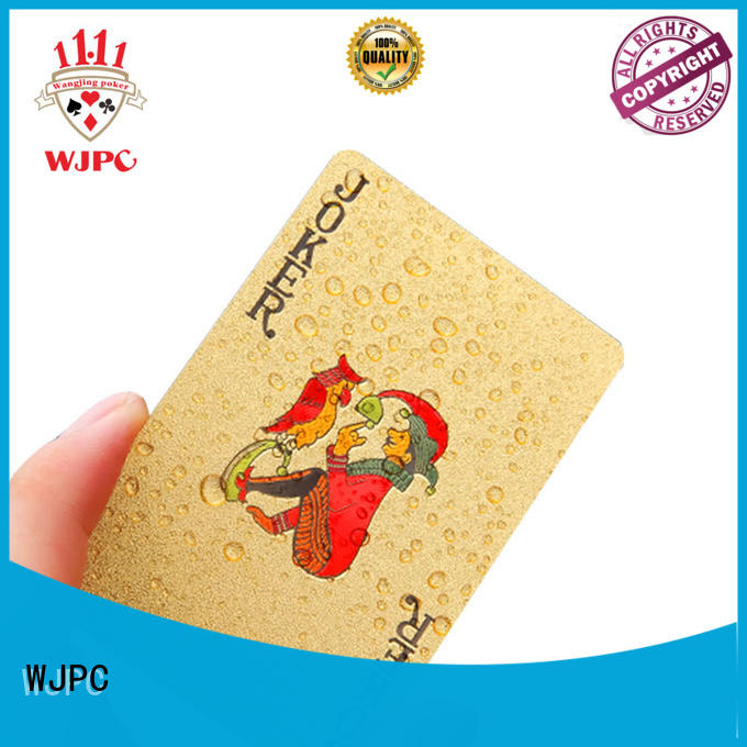 WJPC waterproof poker cards custom printed in china for game