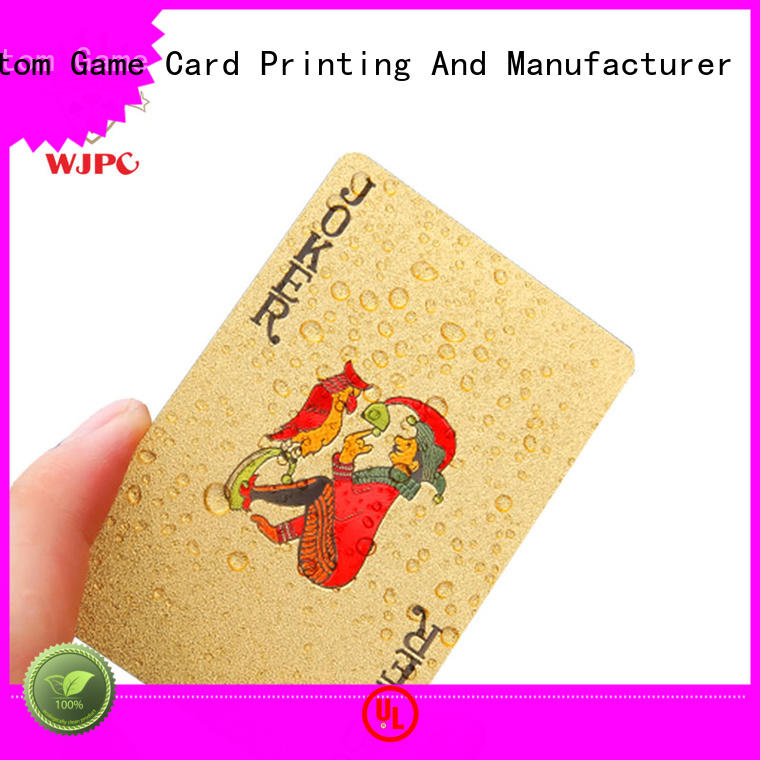 High-quality poker playing cards for sale plastic factory for children