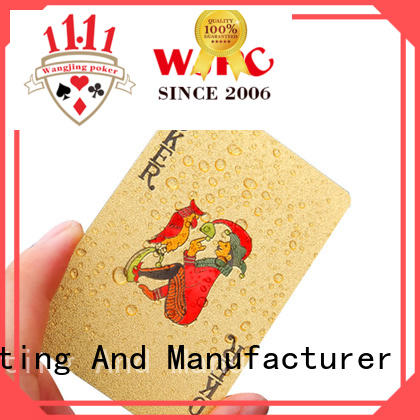 WJPC color plastic poker cards newly for kindergarten