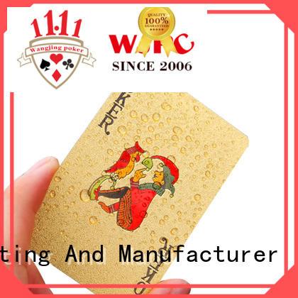 WJPC color plastic poker cards newly for kindergarten