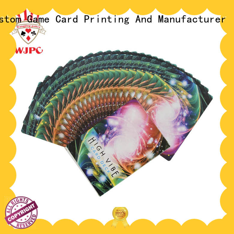 printing relax customized WJPC Brand oracle cards supplier