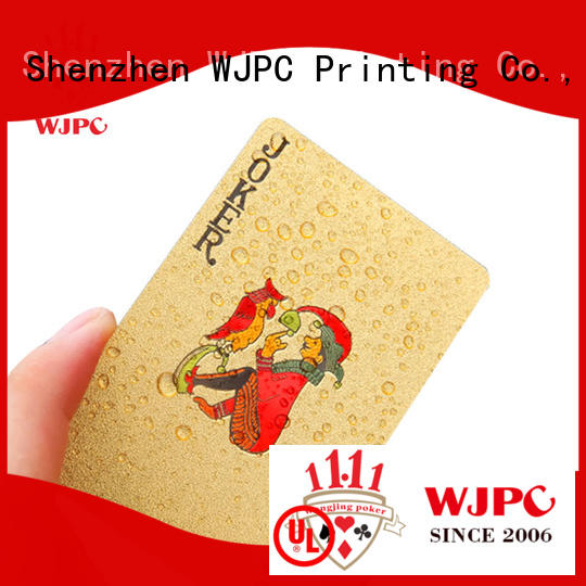 WJPC funny custom plastic playing cards environmentally friendly for board game