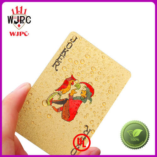 WJPC waterproof plastic playing card newly for board game