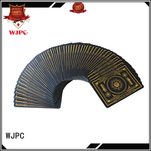WJPC black royal poker cards company for game