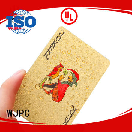 WJPC new arrival plastic coated playing cards Supply for game